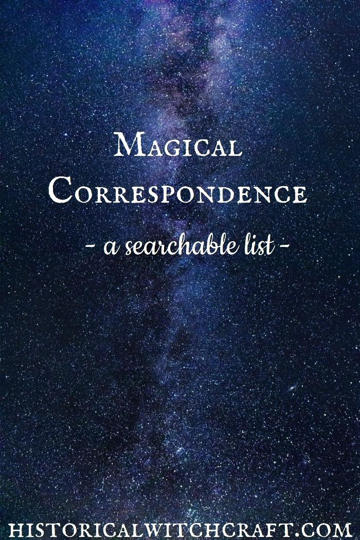 magic-magical-magickal-correspondence