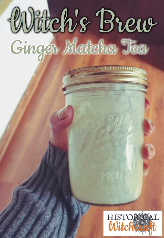 Ginger Matcha Tea: Witch's Brew